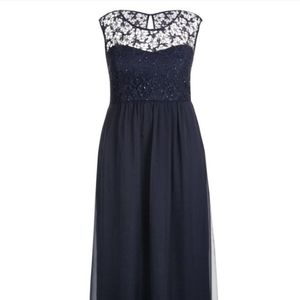 City Chic Sparkle Love Navy Blue Maxi Dress